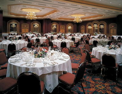 Banquet space set for event