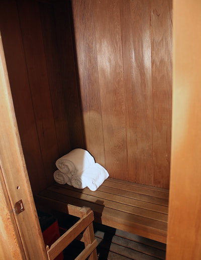 Towels in sauna